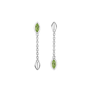 Silver Vitality Drop Earrings