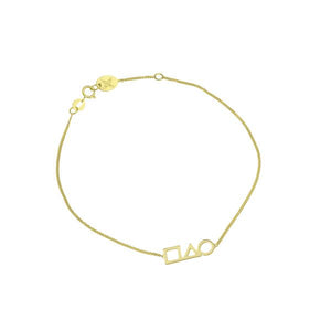 9ct Gold Shapes Bracelet