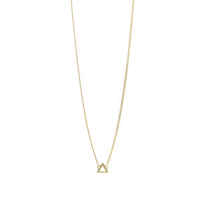 9ct Gold Triangle Pendant