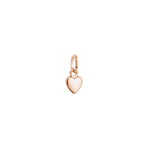 18ct Rose Gold Plated Vermeil Heart Charm