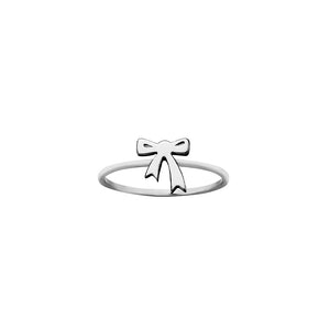 Silver Mini Bow Ring