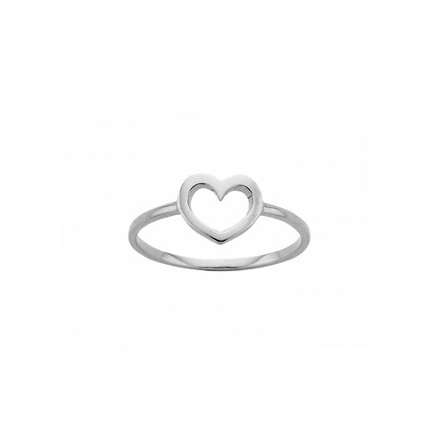 Silver Mini Heart Ring