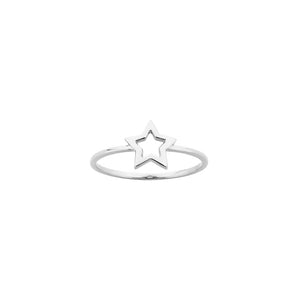 Silver Mini Star Ring