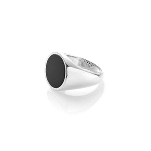 Sterling Silver Max Members Only Ring- Onyx