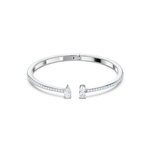 Attract Cuff - White Rhodium Plated