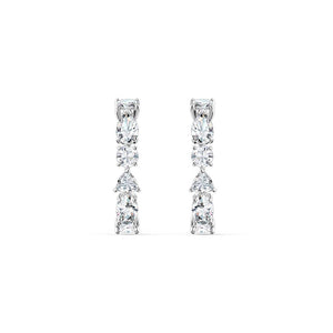 Tennis Deluxe Mixed Earrings - White Rhodium Plated