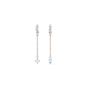 Attract Pierced Earrings -White Rose Gold Plated