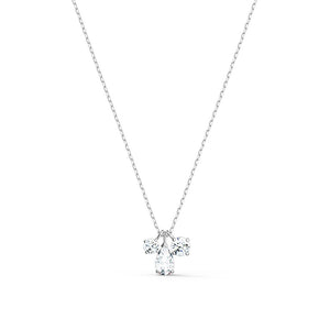Attract Cluster Pendant - White Rhodium Plated
