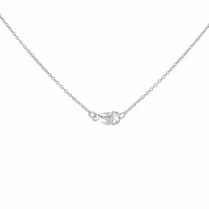 Silver Scorpion Micro Necklace