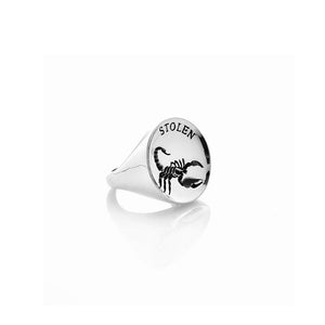 Silver Scorpion Sovereign Ring