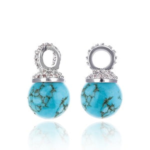 Turquoise Drops Ear Charms