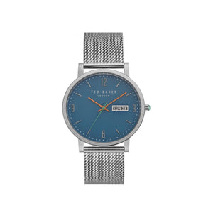 Grant Blue Dial Silver Mesh Watch