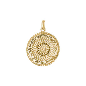 18ct Gold Plated Traveller Coin Charm