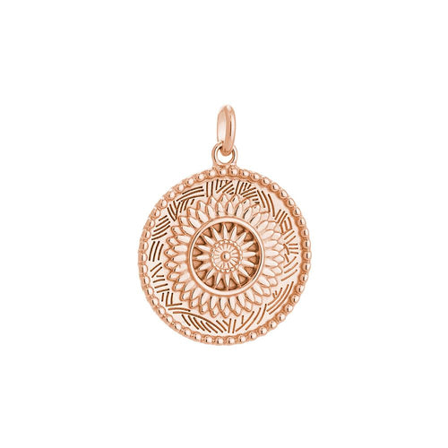 18ct Rose Gold Plated Traveller Coin Charm