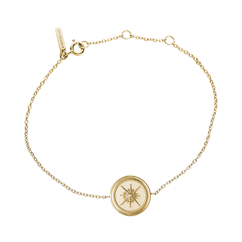 Gold Plated True North Coin Bracelet