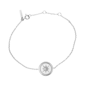Silver True North Coin Bracelet