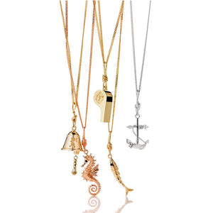 9ct Rose Gold Anchor Necklace