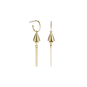 Gold Plated Thea Bell Hoop Earrings