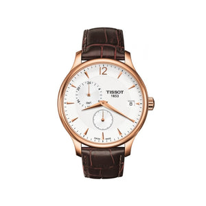 Tradition Rose Gold and Brown Mens Watch