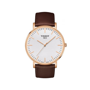 Everytime Rose Gold and Brown Mens Watch