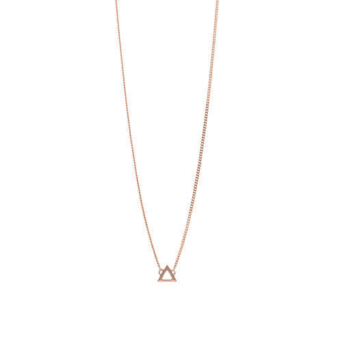 9ct Rose Gold Triangle Pendant