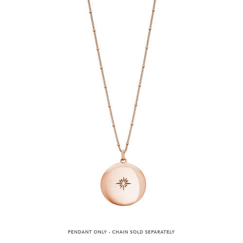 18ct Rose Gold Plated Venus Charm