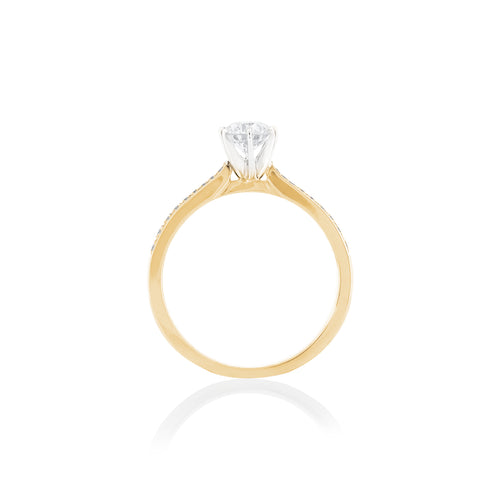 18ct Yellow Gold Vera Diamond Ring
