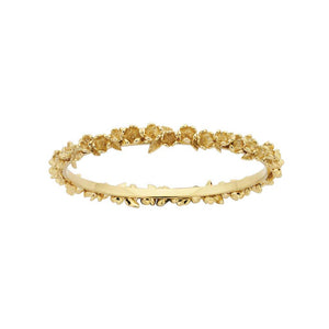 9ct Gold Wreath Bangle