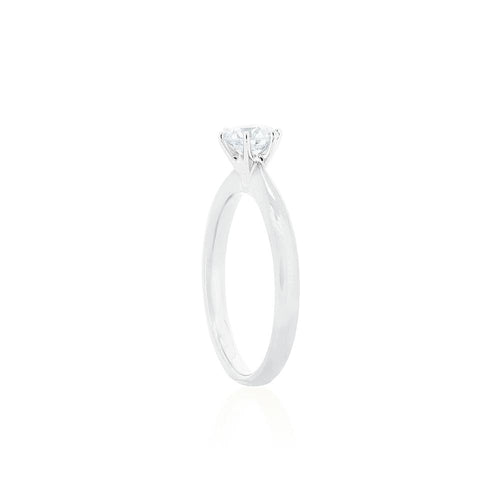 18ct White Gold Vanity Diamond Ring 1D =.70