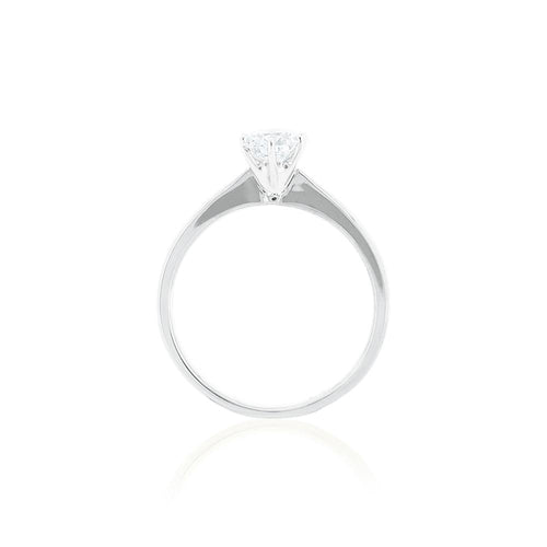 18ct White Gold Vanity Diamond Ring 1D =.50