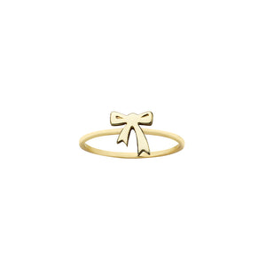 9ct Gold Mini Bow Ring