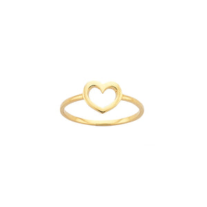 9ct Gold Mini Heart Ring