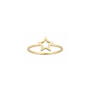 9ct Gold Mini Star Ring