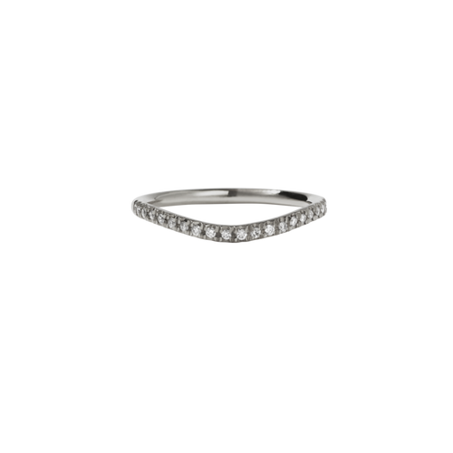 9ct White Gold Amelie Band Pave - Diamond