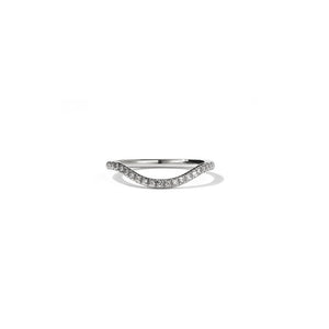 9ct White Gold Aphrodite Band - Pave