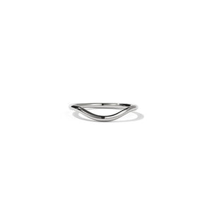 9ct White Gold Aphrodite Band - Plain