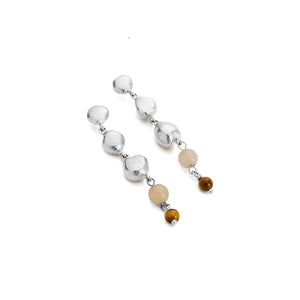 Silver Artisan Drop Earring Set