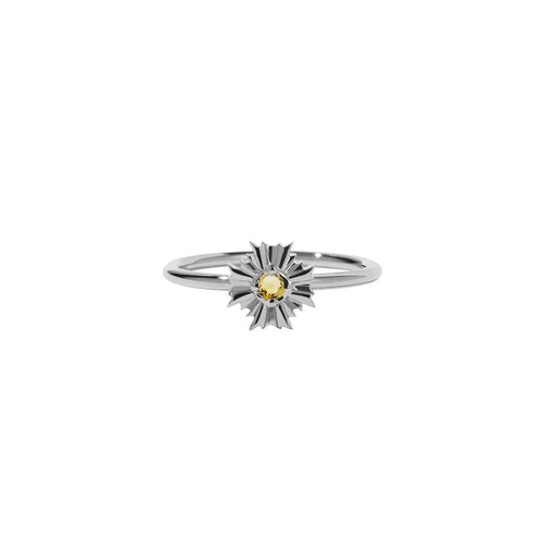 dcc609179 Silver August Stacker Ring - Citrine | Silvermoon