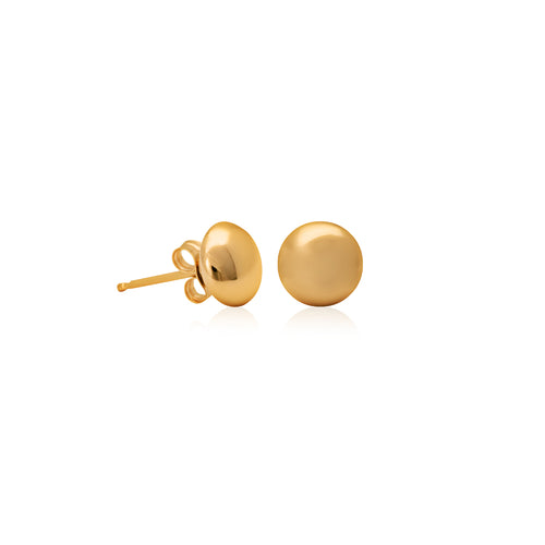 9ct Yellow Gold Flat Ball Studs 4mm