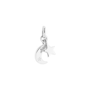 Silver Star Moon Double Charm
