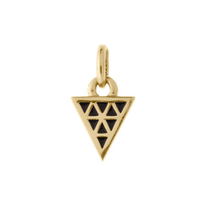 18ct Gold Plated Vermeil Black Enamel Triangle Charm