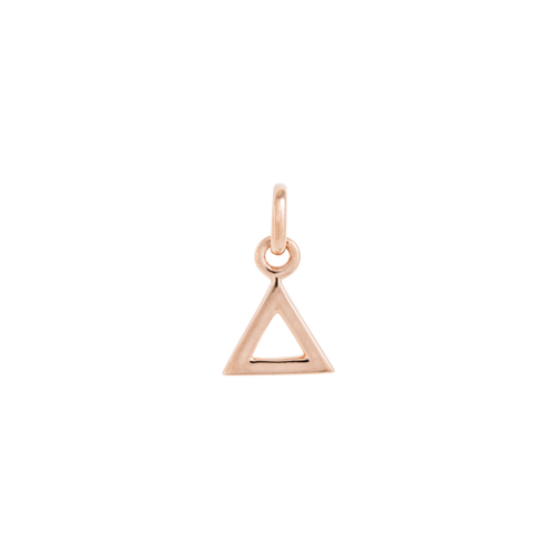 18ct Rose Gold Vermeil Plated Triangle Outline Charm