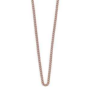 18ct Rose Gold Vermeil Plated Bespoke Curb Chain