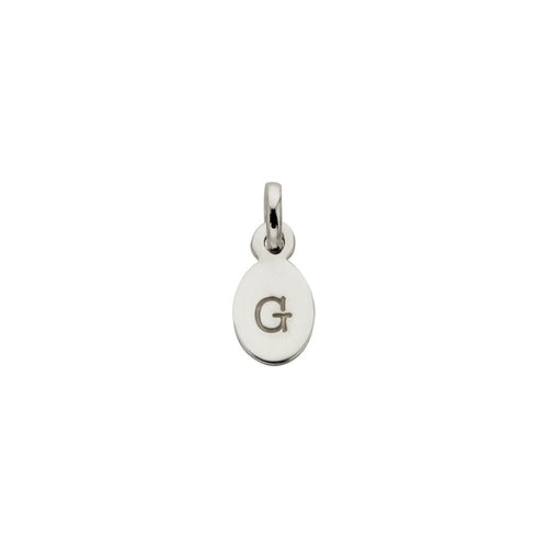 Silver G Oval Letter Charm