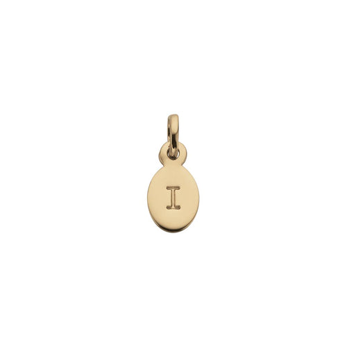 18ct Gold Plated Vermeil I Oval Letter Charm