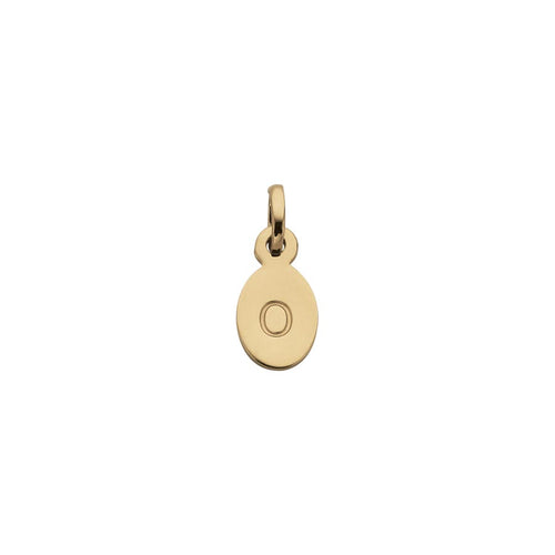 18ct Gold Plated Vermeil O Oval Letter Charm