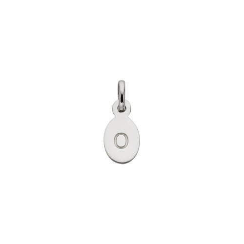 Silver O Oval Letter Charm