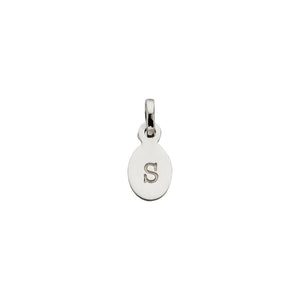 Silver S Oval Letter Charm
