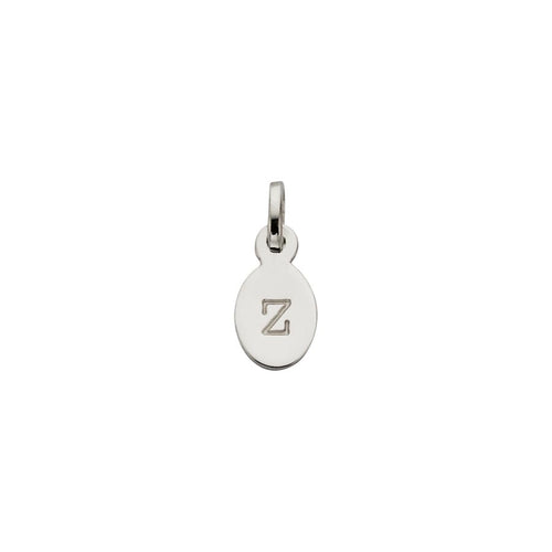 Silver Z Oval Letter Charm
