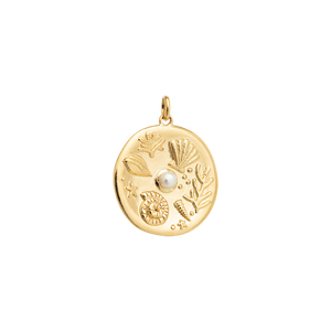 Gold Plated By The Sea Coin Charm